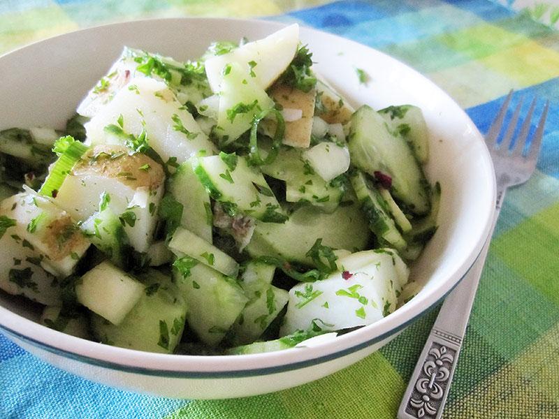 Kartoffel Gurken Salat Vegan Glutenfrei Rezept