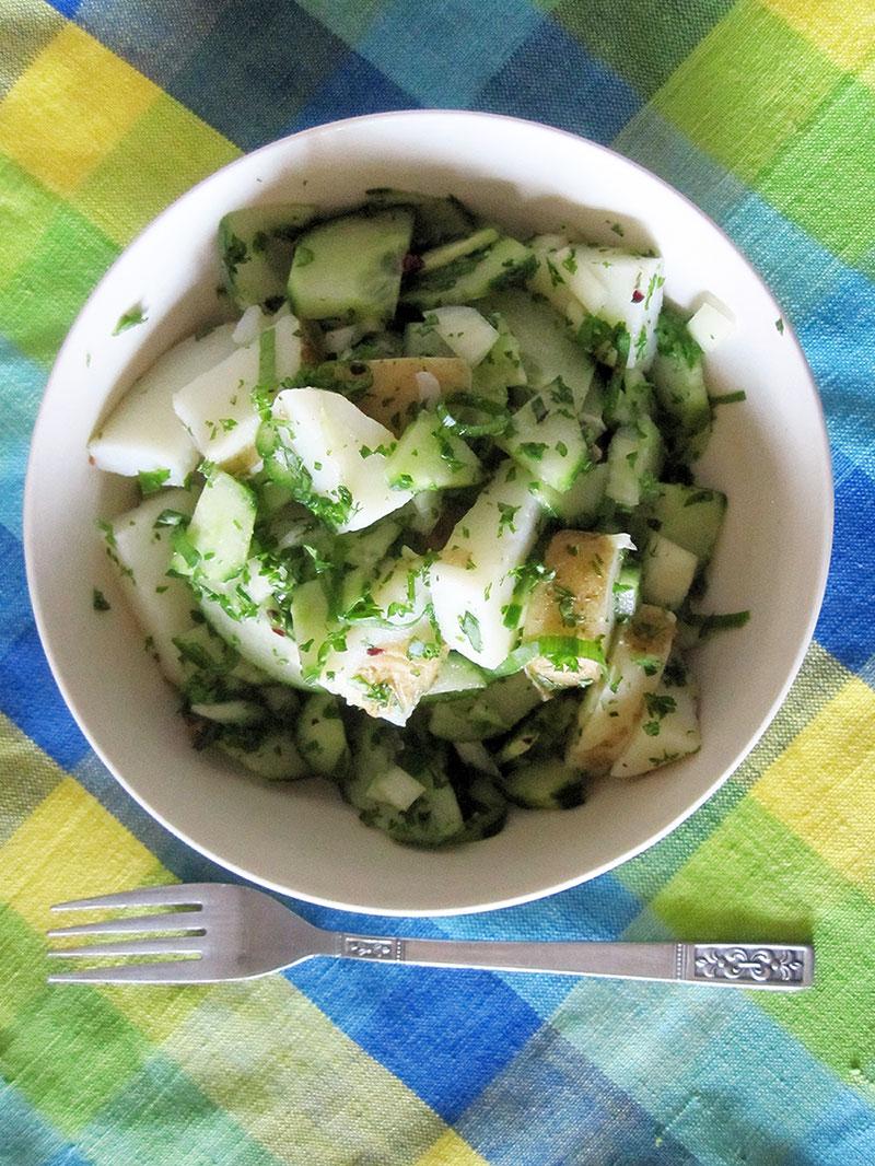 Kartoffel Gurken Salat Vegan Glutenfrei