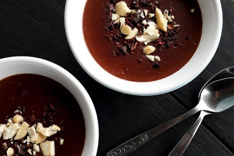 Schoko Pudding Vegan Glutenfrei Fruchtgesuesst Rezept 1