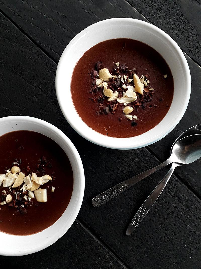 Schoko Pudding Vegan Glutenfrei Fruchtgesuesst Rezept