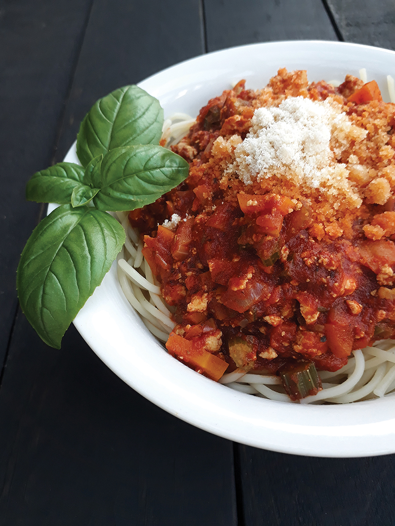 Vegan Gluten free Meat free Tofu Bolognese Passata Sauce Recipe 3