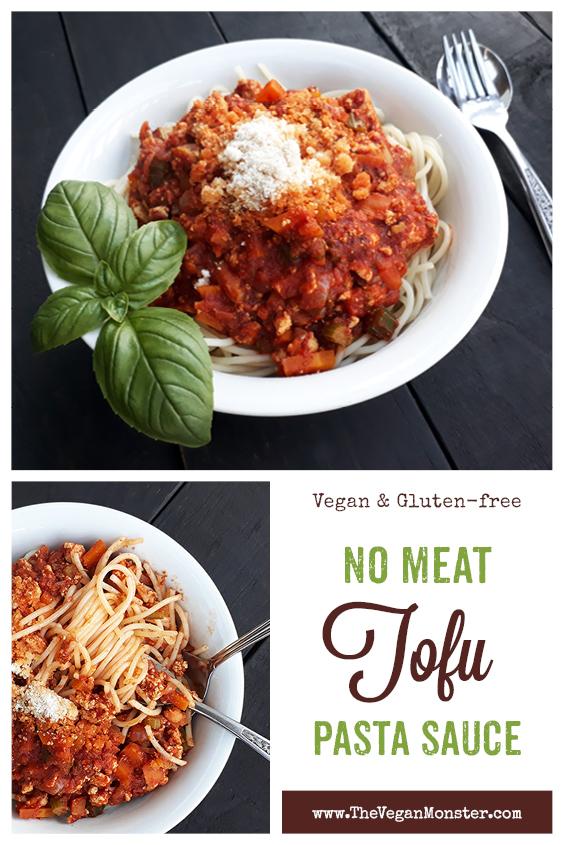 Vegan Gluten free Meat free Tofu Bolognese Passata Sauce Recipe P