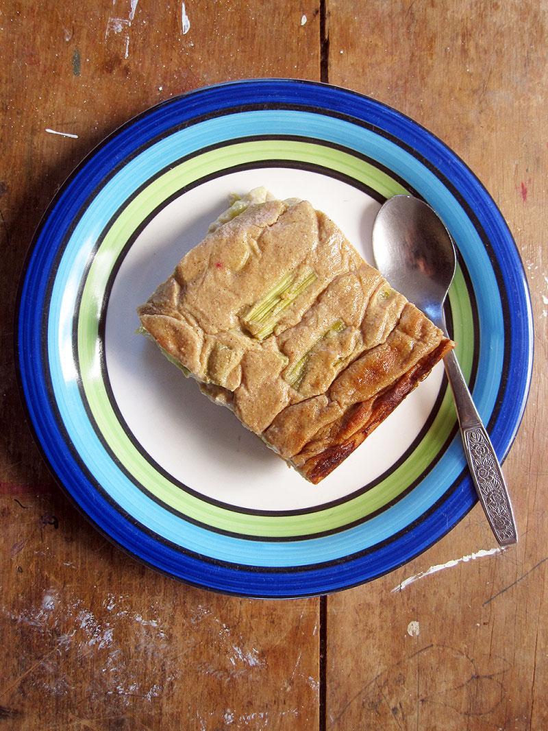 Vegan Gluten free Rhubarb Cake Recipe 2