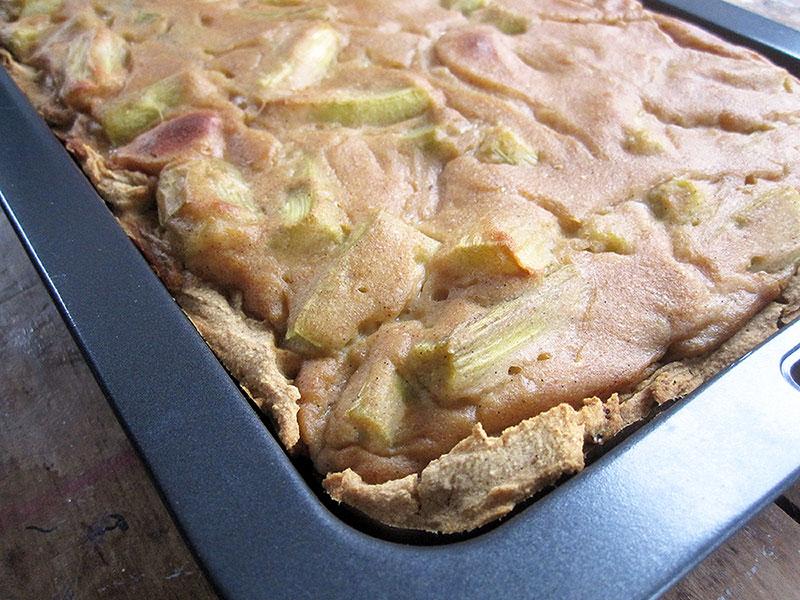 Vegan Gluten free Rhubarb Cake Recipe