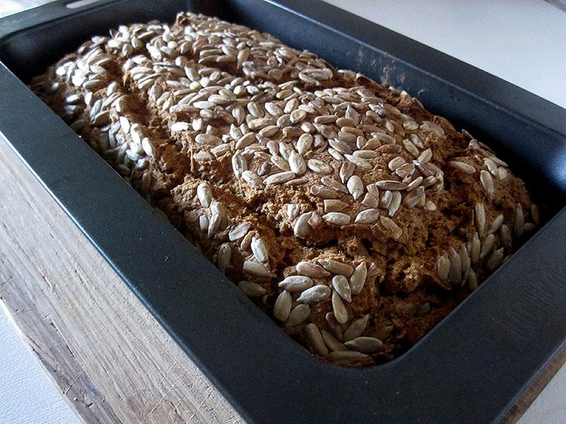 Vegan Gluten free Sunflower Seed Bread