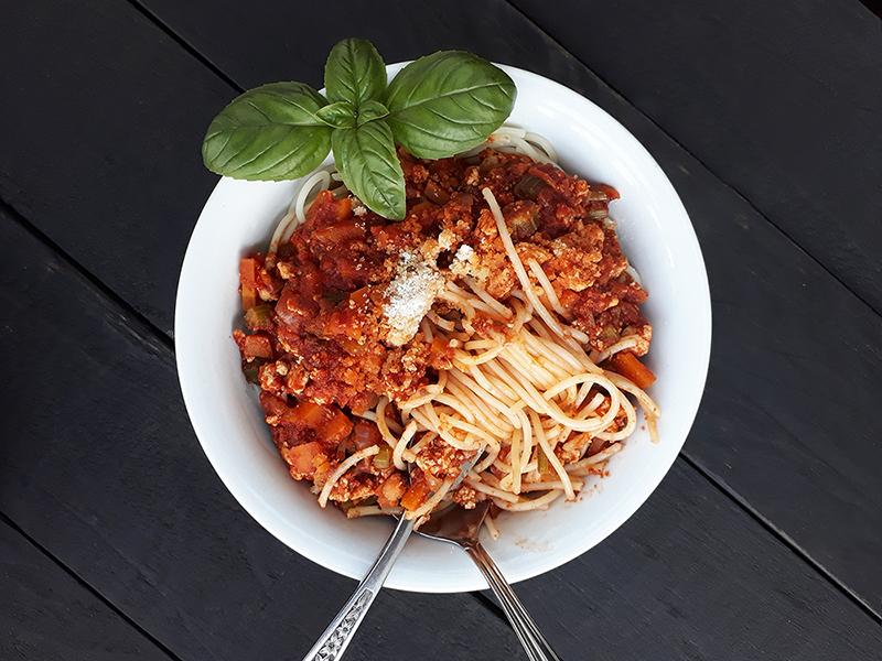 Vegane Glutenfreie Tofu Bolognese Pasta Sosse Ohne Fleisch Rezept 4