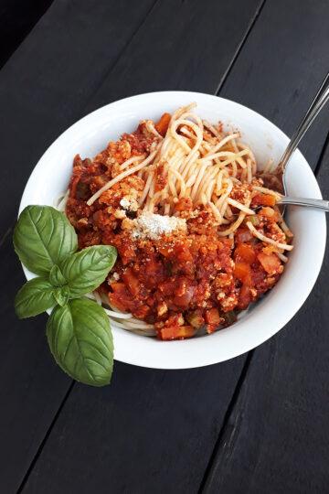 Vegane Glutenfreie Tofu Bolognese Pasta Sosse Ohne Fleisch Rezept 5 1