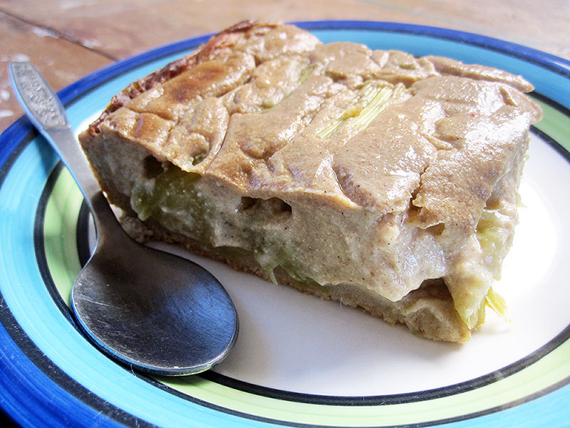 Veganer Glutenfreier Rhababer Kuchen Rezept 2