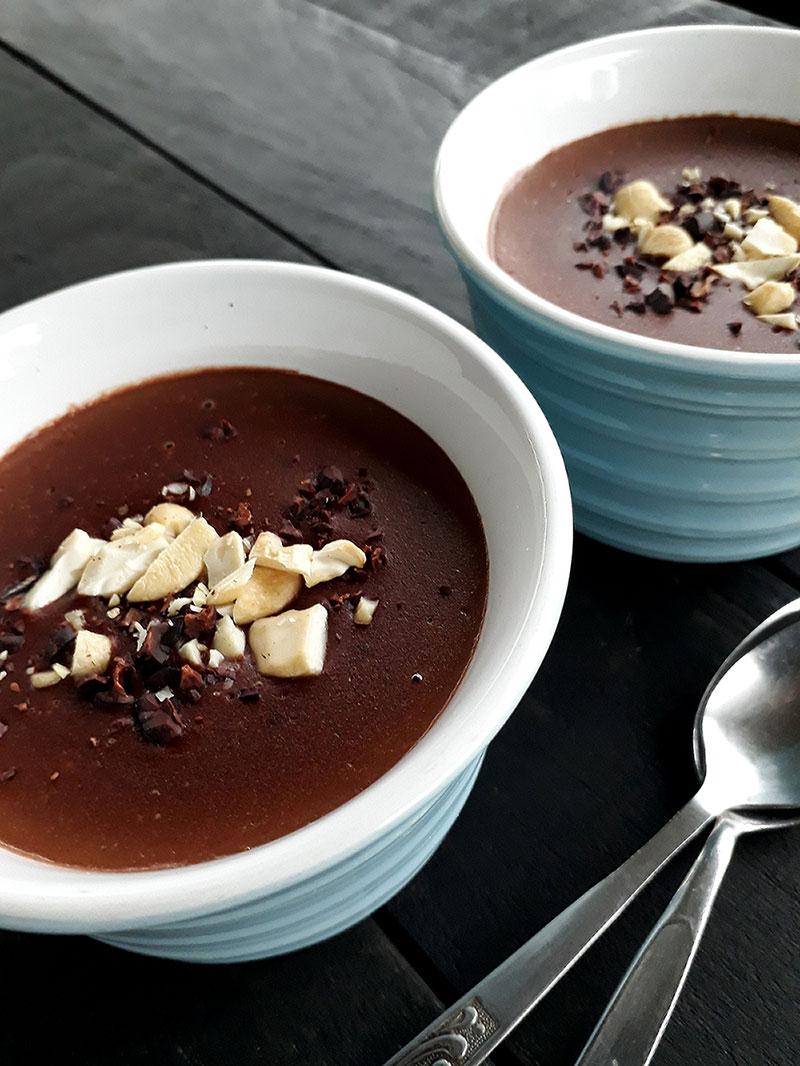 Schoko Pudding Vegan Glutenfrei Fruchtgesüßt Rezept