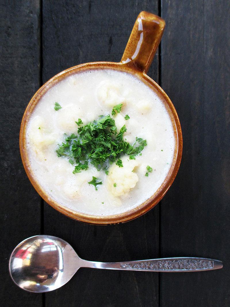 Blumenkohl Kartoffel Suppe Vegan Glutenfrei Rezept