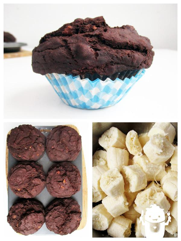 Vegan Gluten-free Chocolate Banana Muffins