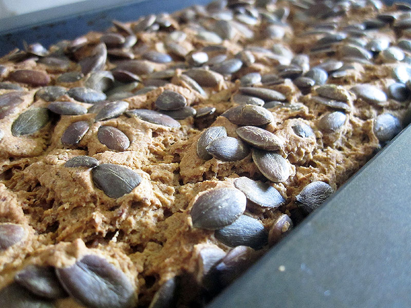 Vegan Gluten free Pumpkin Seed Bread