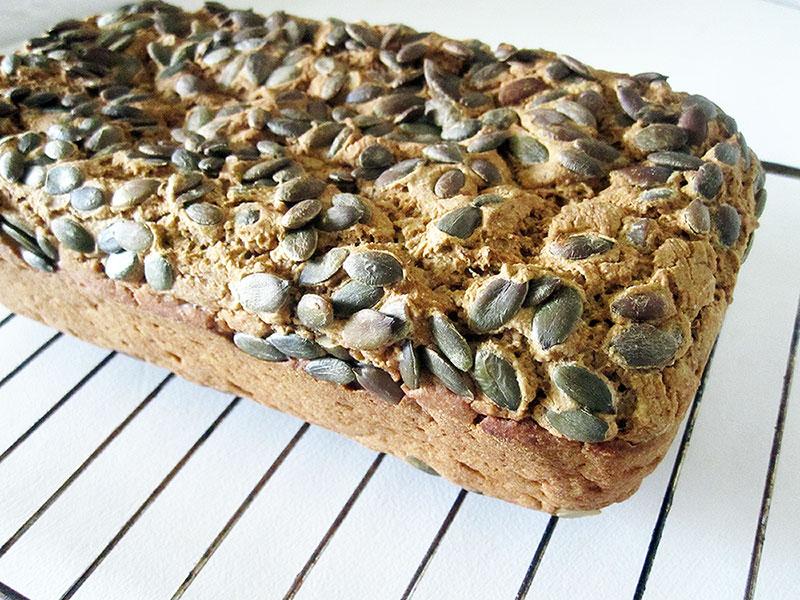 Veganes Glutenfreies Kuerbis Kern Brot