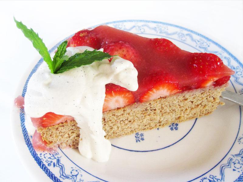 Biskuit Kuchen Erdbeeren Vegan Glutenfrei Rezept