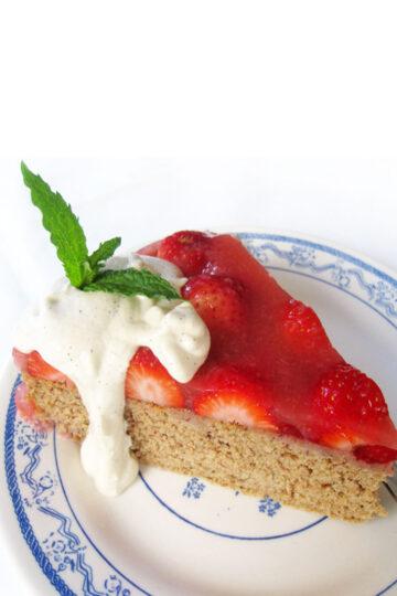 Veganer Glutenfreier Biskuit Erdbeer Kuchen Rezept