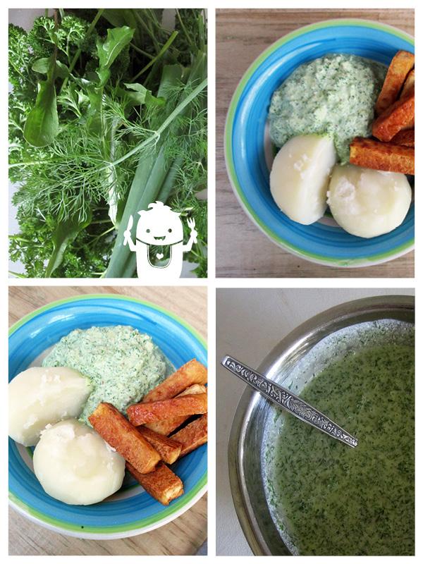 vegan green sauce grüne soße