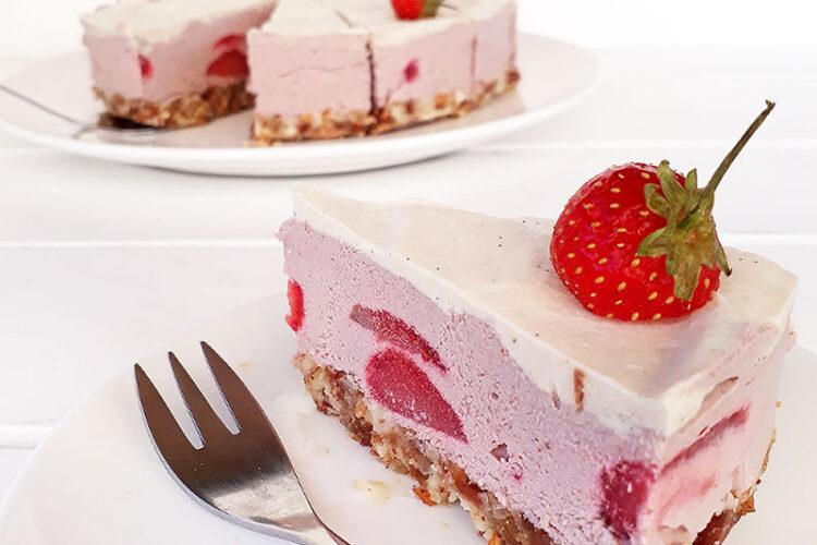 Erdbeer Torte Ohne Backen Vegan Glutenfrei 1