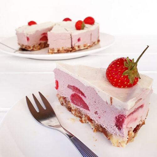 Erdbeer Torte Ohne Backen Vegan Glutenfrei 3