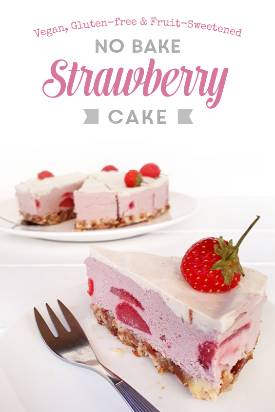 No Bake Strawberry Cake Vegan Gluten free P