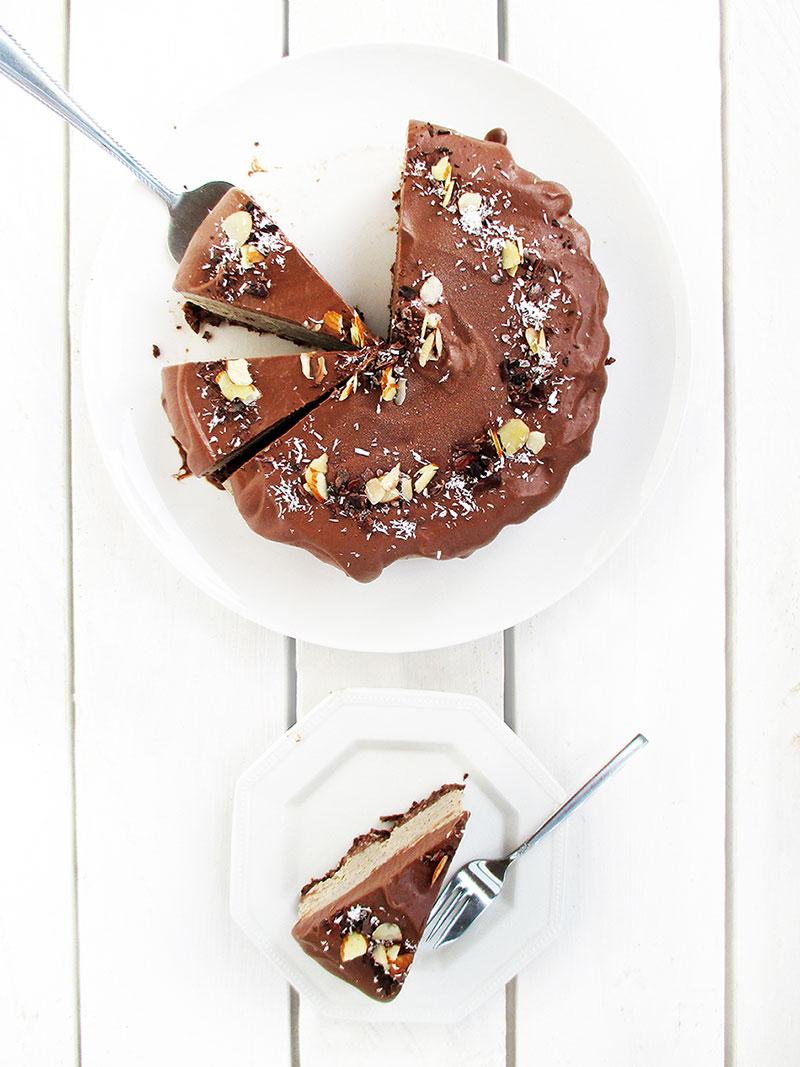 Vegan Gluten free No Bake Coffee Cake Recipe