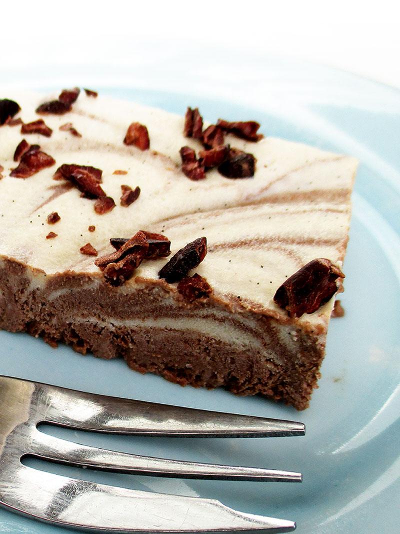Vegan Gluten free Vanilla Choc Slices 2
