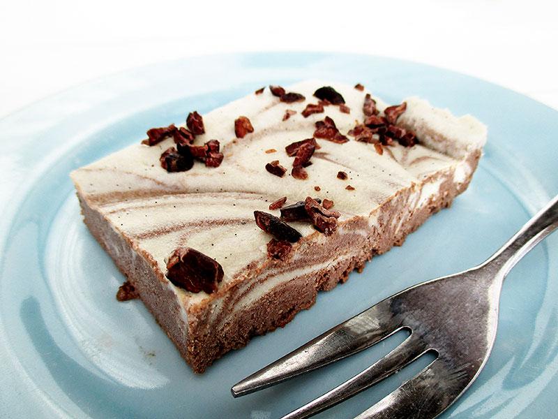 Vegan Gluten free Vanilla Choc Slices