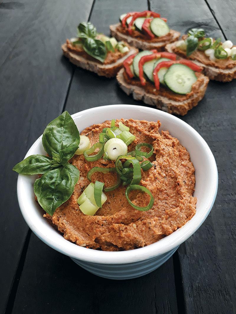 Sunflower Tomato Spread Vegan Gluten-free Recipe