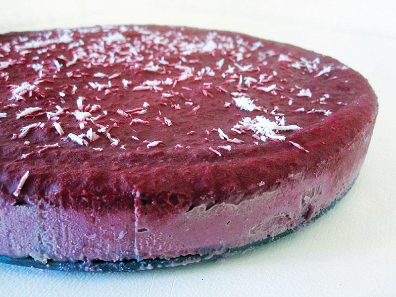 Vegan Gluten free No Bake Blackberry Cake 2