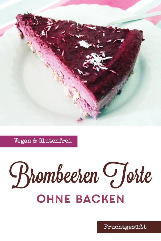 Vegan Glutenfrei Brombeer Torte Ohne Backen P4