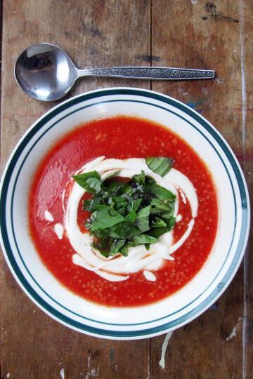 Vegane Glutenfreie Tomaten Hirse Suppe 1