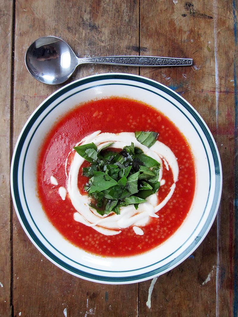 Vegane Glutenfreie Tomaten Hirse Suppe