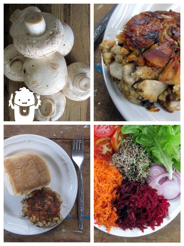 Vegan Gluten-free Mushroom Burger Patties