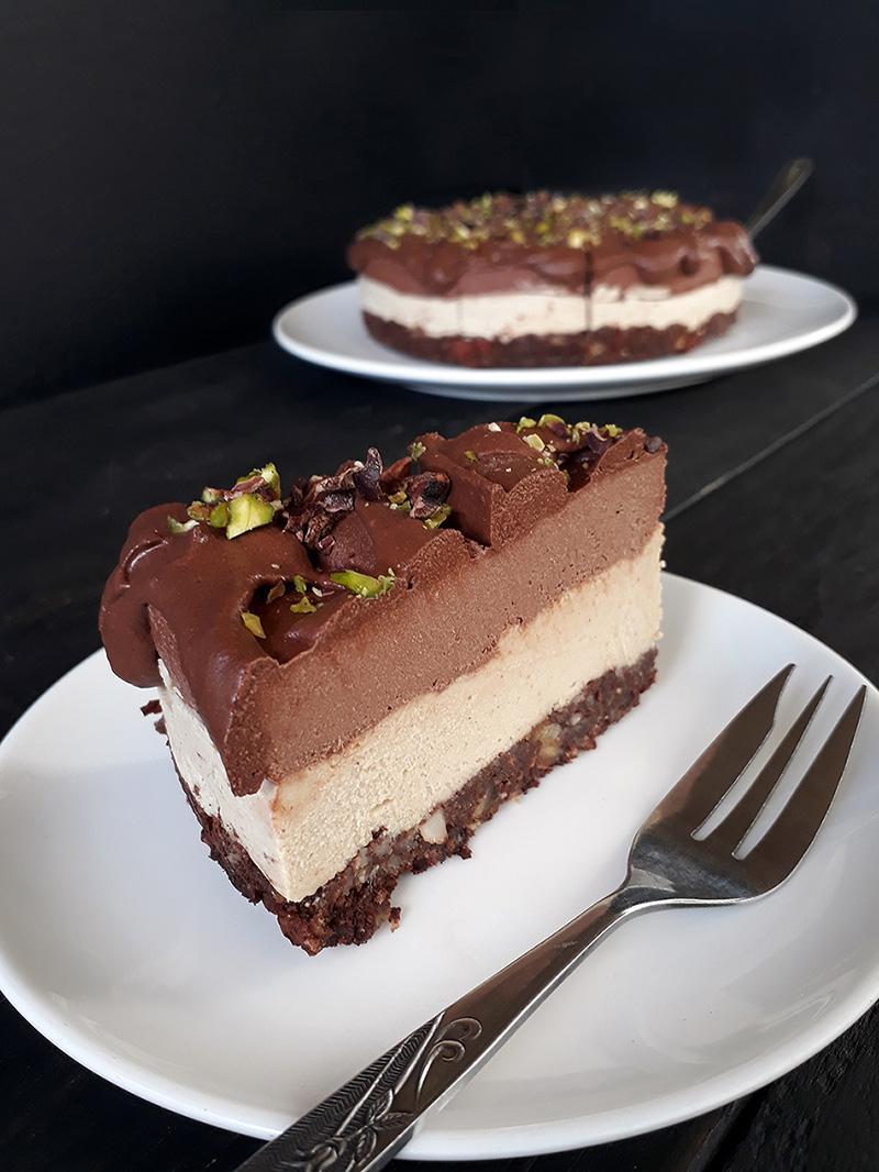 Nix Backen Schoko Vanille Torte Vegan