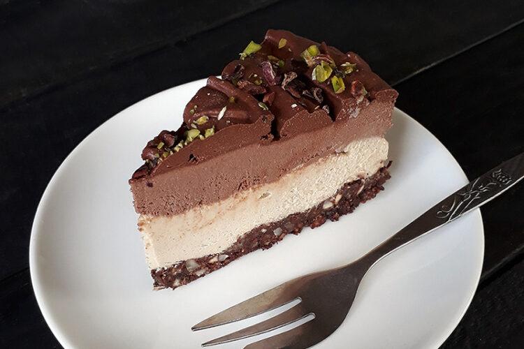 Schoko Vanille Torte Vegan Glutenfrei 1