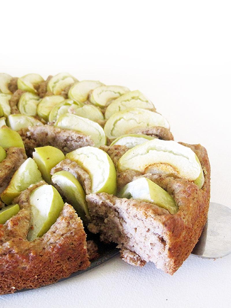 Vegan Gluten free Walnut Apple Cake Recipe