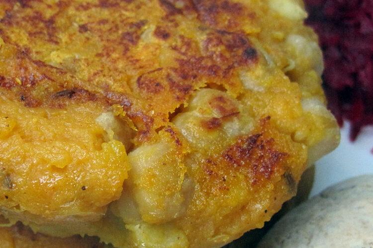 Vegan Gluten-free Chickpea Kumara Burger Recipe