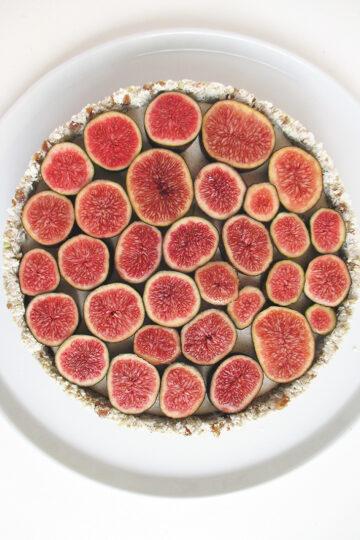 Vegane Glutenfreie Fruchtgesuesste Nix Backen Vanille Feigen Torte Rezept 2 1