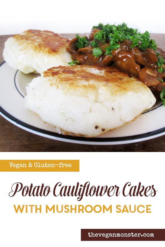 Gluten free Vegan Potato Cauliflower Cakes Recipe P