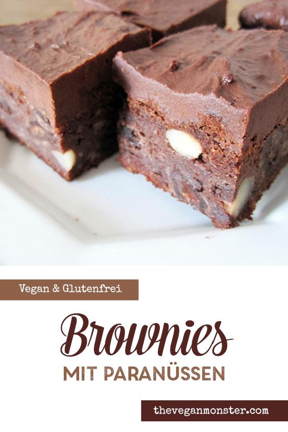 Paranuss Brownie Rezept Vegan Glutenfrei