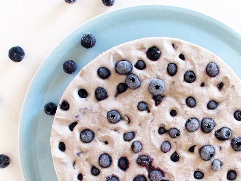 No Bake Blueberry Vanilla Cake Recipe