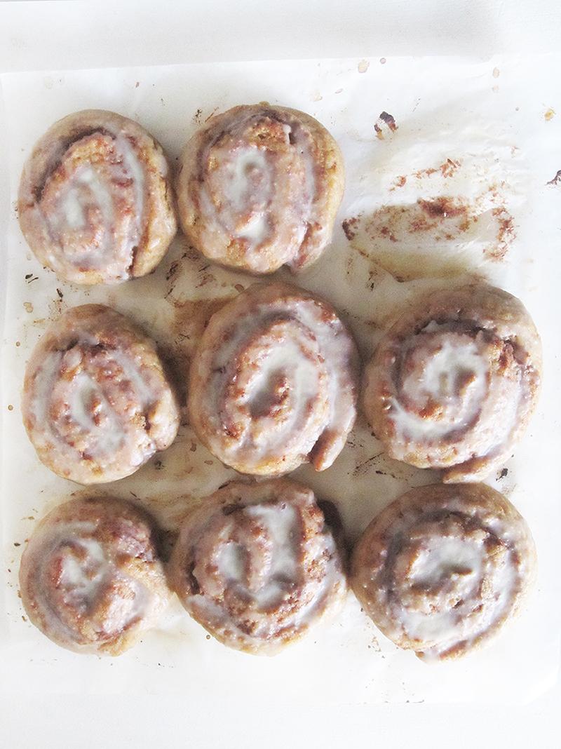 Vegan GF Fruit Sweetened Cinnamon Rolls