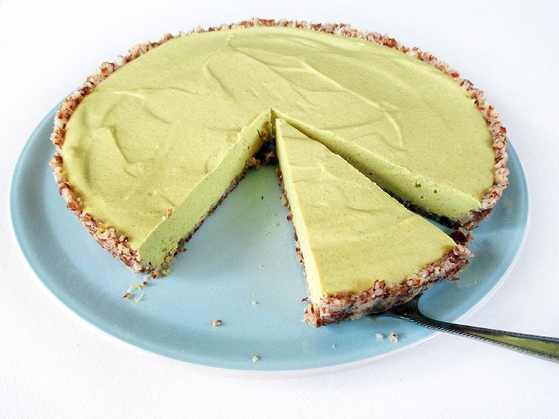 Vegan GF No Bake Lemon Tart