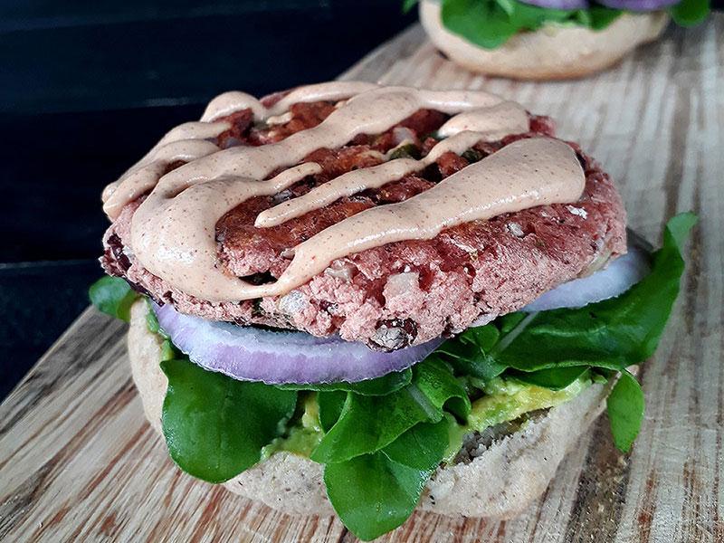 Vegan Gluten free Kidney Bean Burger Recipe 2