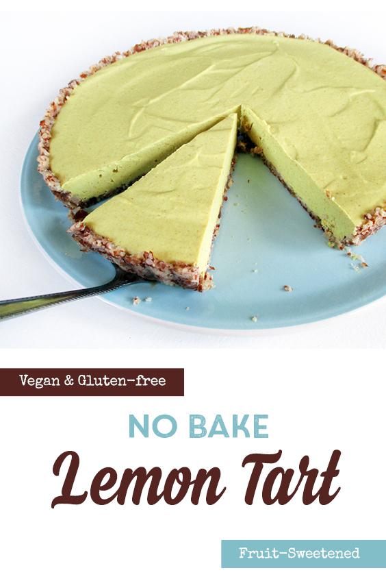 Vegan Gluten free No Bake Lemon Tart P