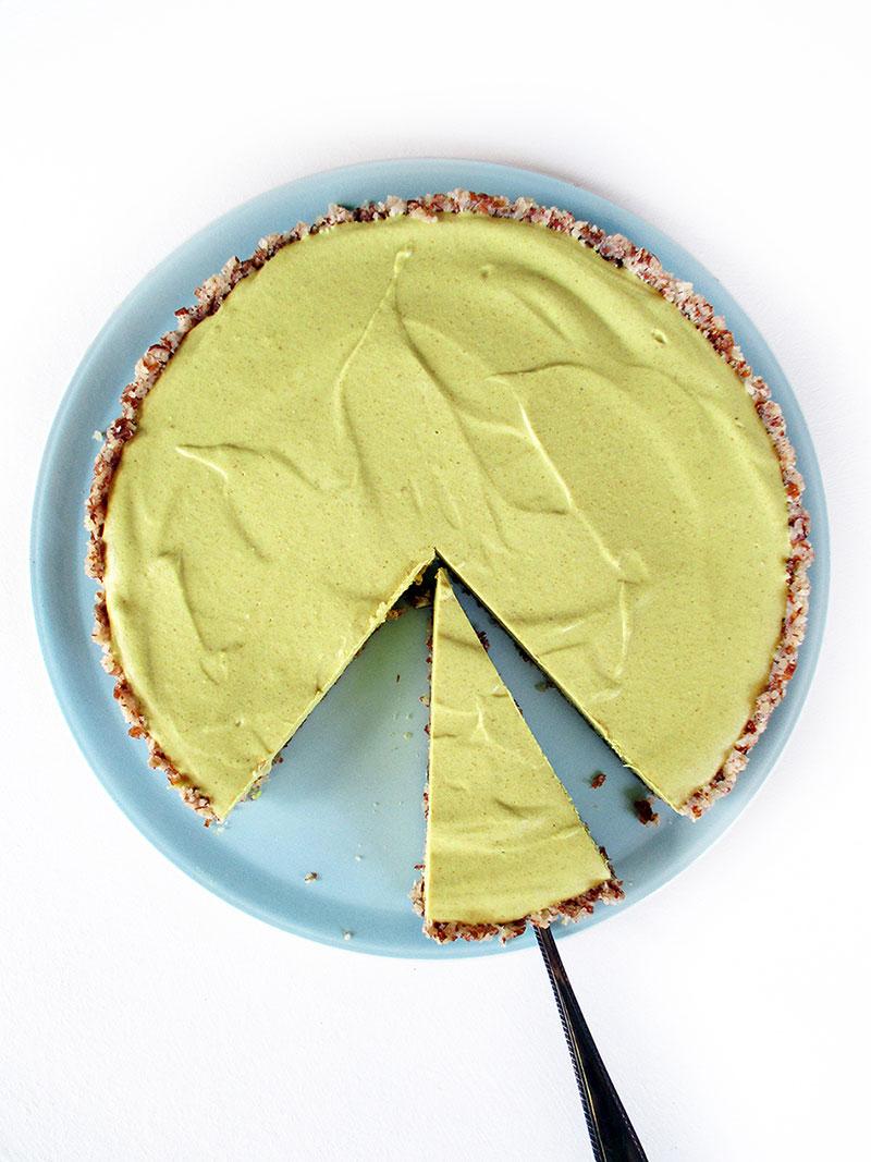 Vegan Gluten free No Bake Lemon Tart