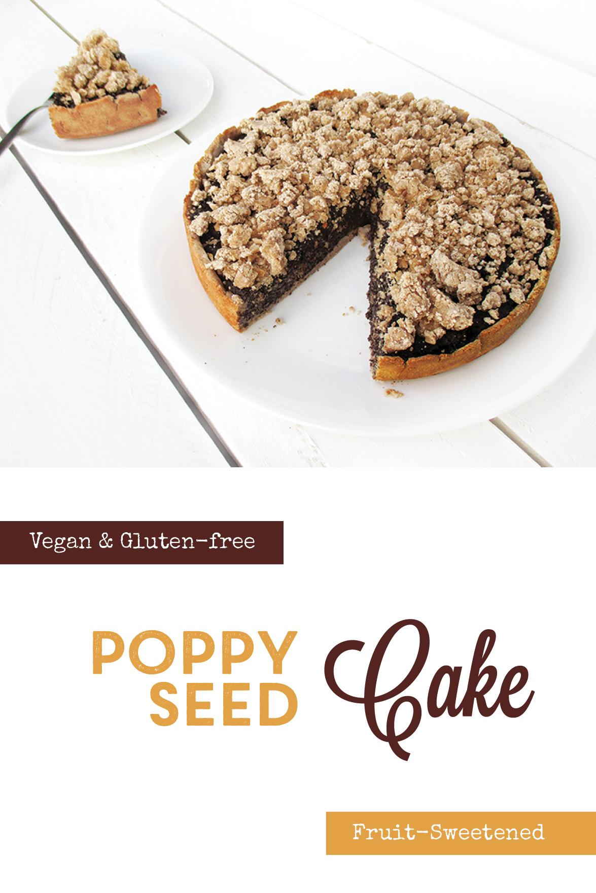 Vegan Gluten free Fruit Sweetened German Poppyseed Cake Recipe P3
