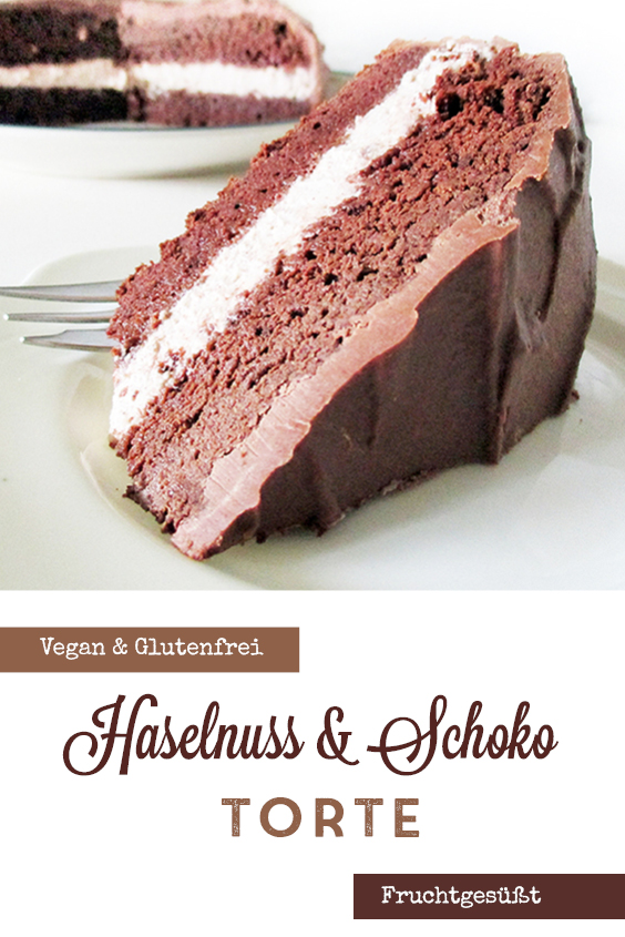 Vegane Glutenfreie Fruchtgesuesste Schoko Haselnuss Torte Rezept P1