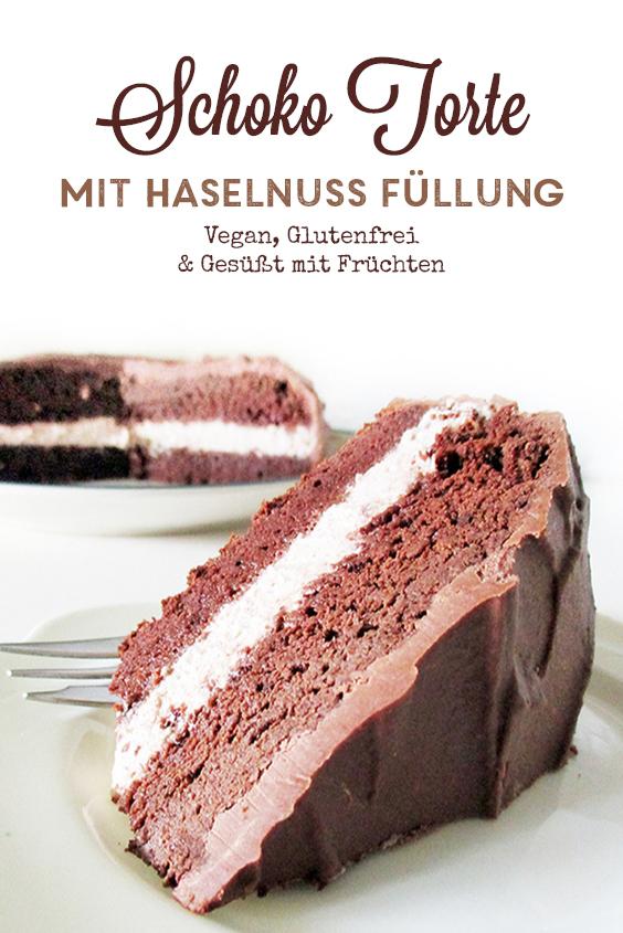 Vegane Glutenfreie Fruchtgesuesste Schoko Haselnuss Torte Rezept P2