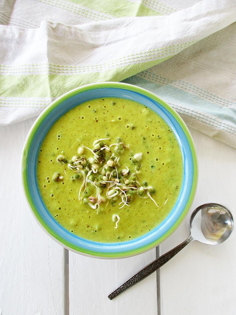 Einfache Vegane Glutenfreie Blumenkohl Curry Suppe Mit Mungbohnen Rezept 3
