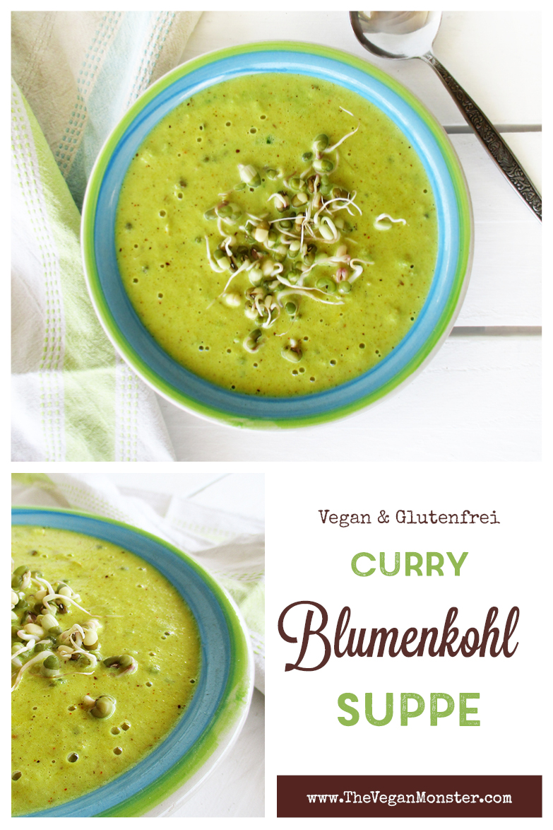 Einfache Vegane Glutenfreie Blumenkohl Curry Suppe Mit Mungbohnen Rezept P3